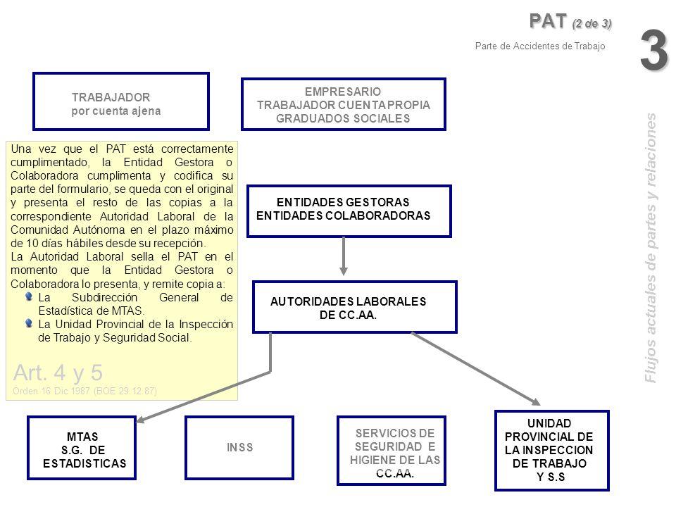 3 Art. 4 y 5 PAT (2 de 3) Flujos actuales de partes y relaciones