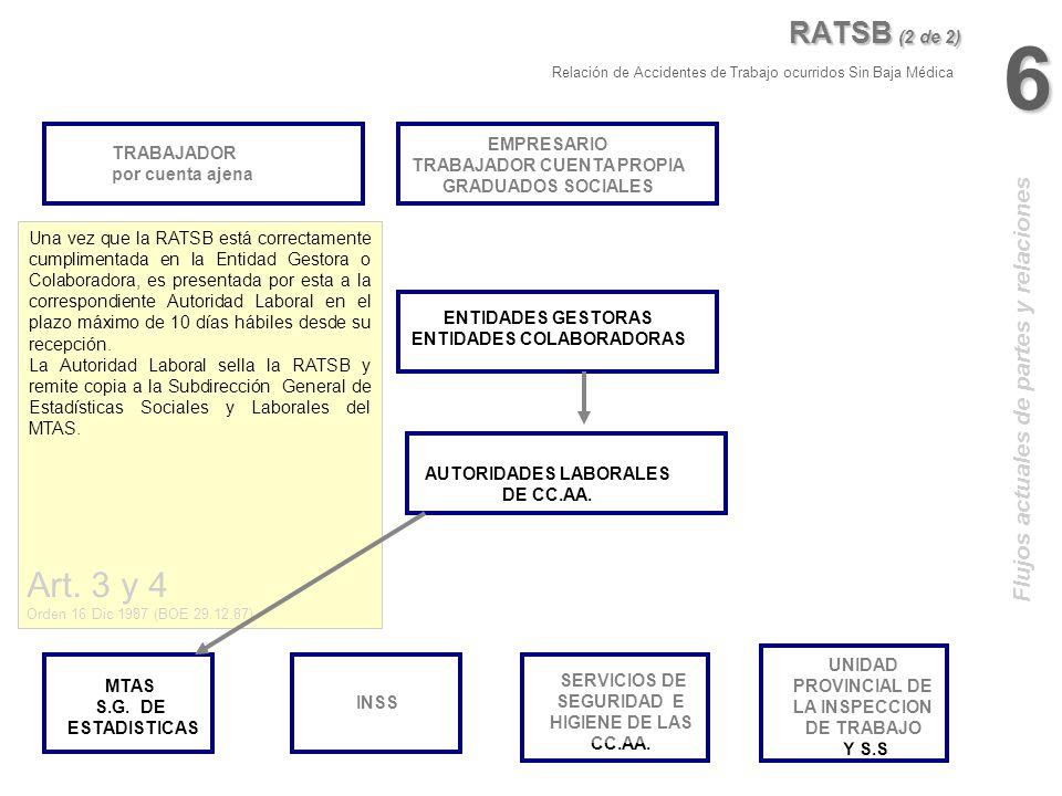 6 Art. 3 y 4 RATSB (2 de 2) Flujos actuales de partes y relaciones