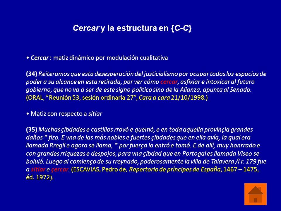 Cercar y la estructura en {C-C}