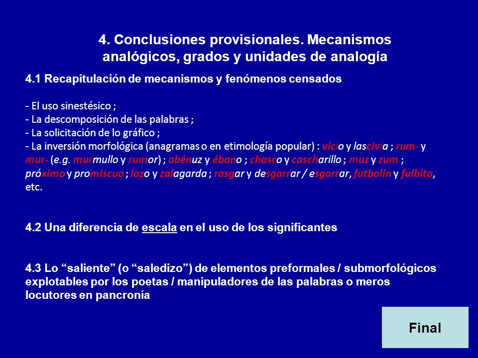 4. Conclusiones provisionales
