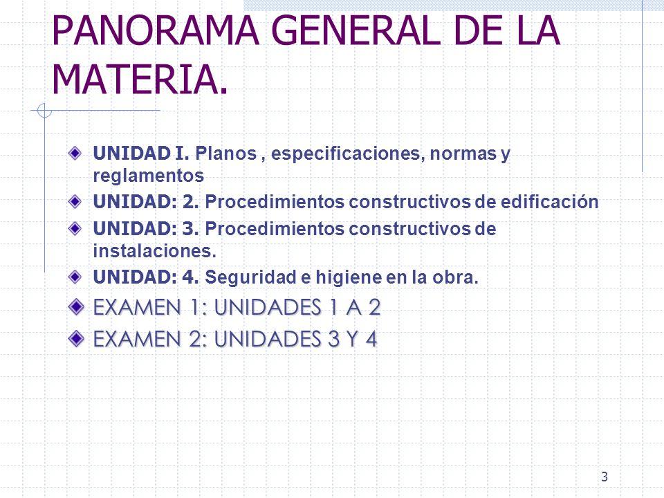 PANORAMA GENERAL DE LA MATERIA.