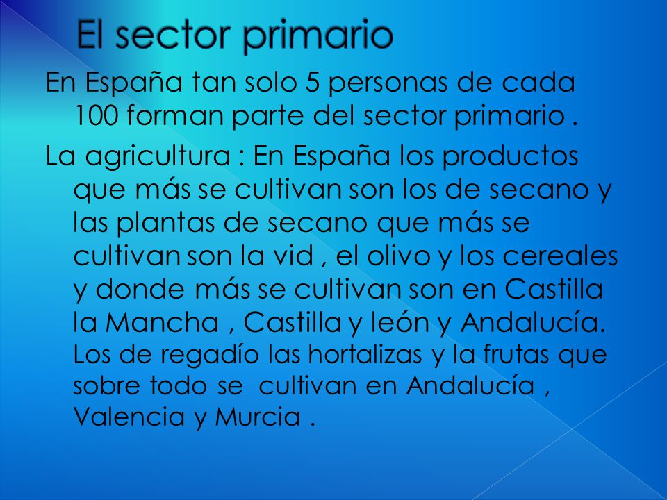 El sector primario