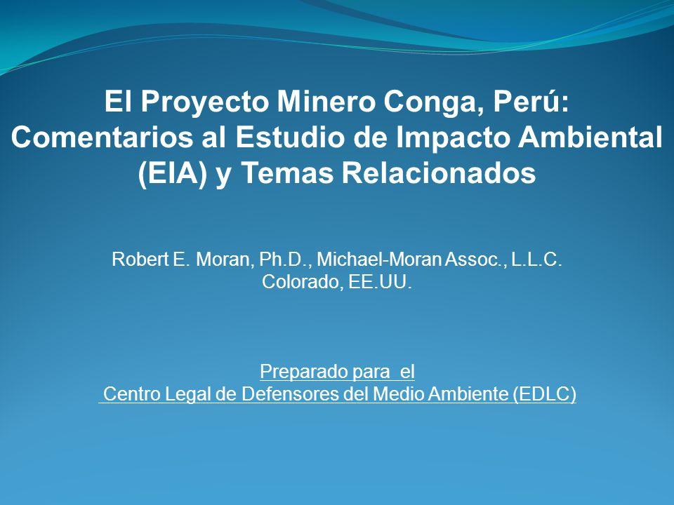 El Proyecto Minero Conga, Perú: