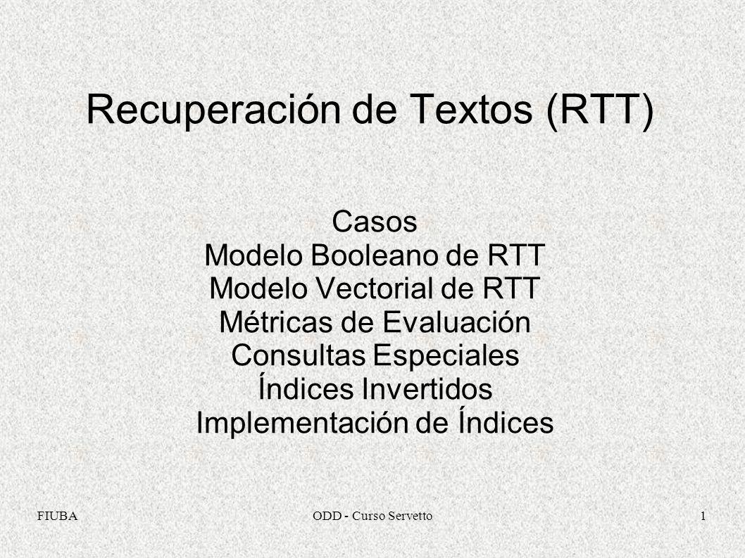 Recuperación de Textos (RTT)