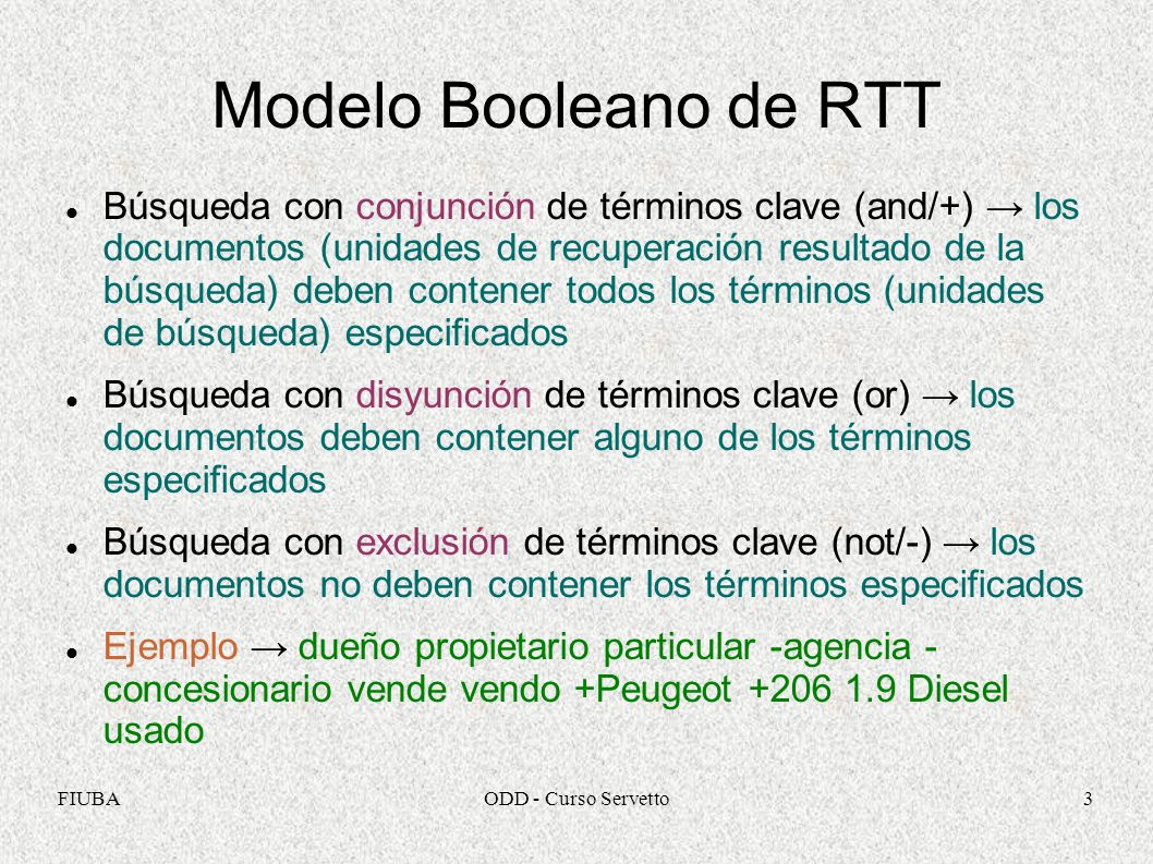 Modelo Booleano de RTT