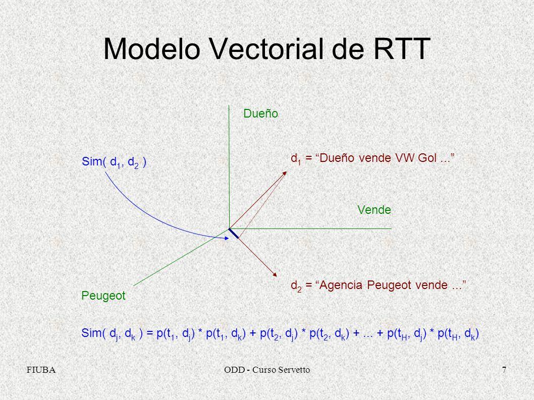 Modelo Vectorial de RTT