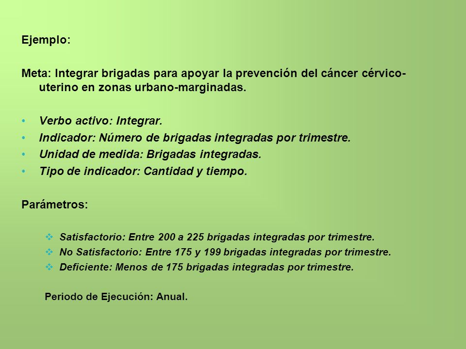 Verbo activo: Integrar.