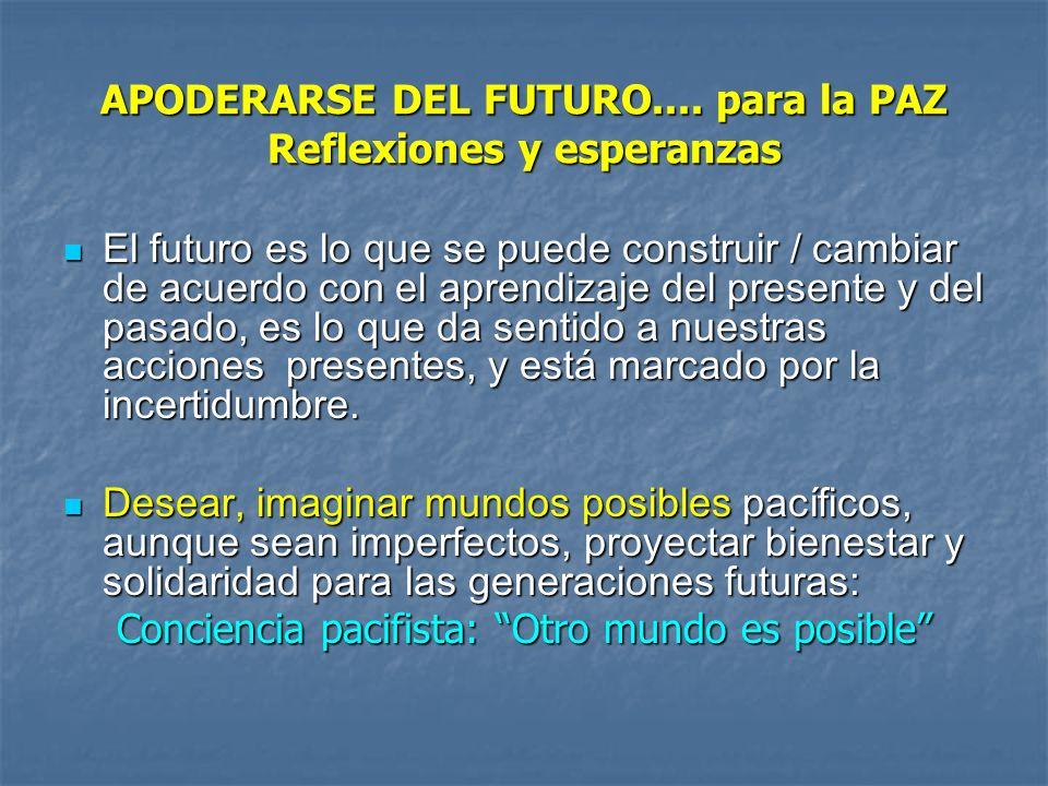 APODERARSE DEL FUTURO.... para la PAZ Reflexiones y esperanzas
