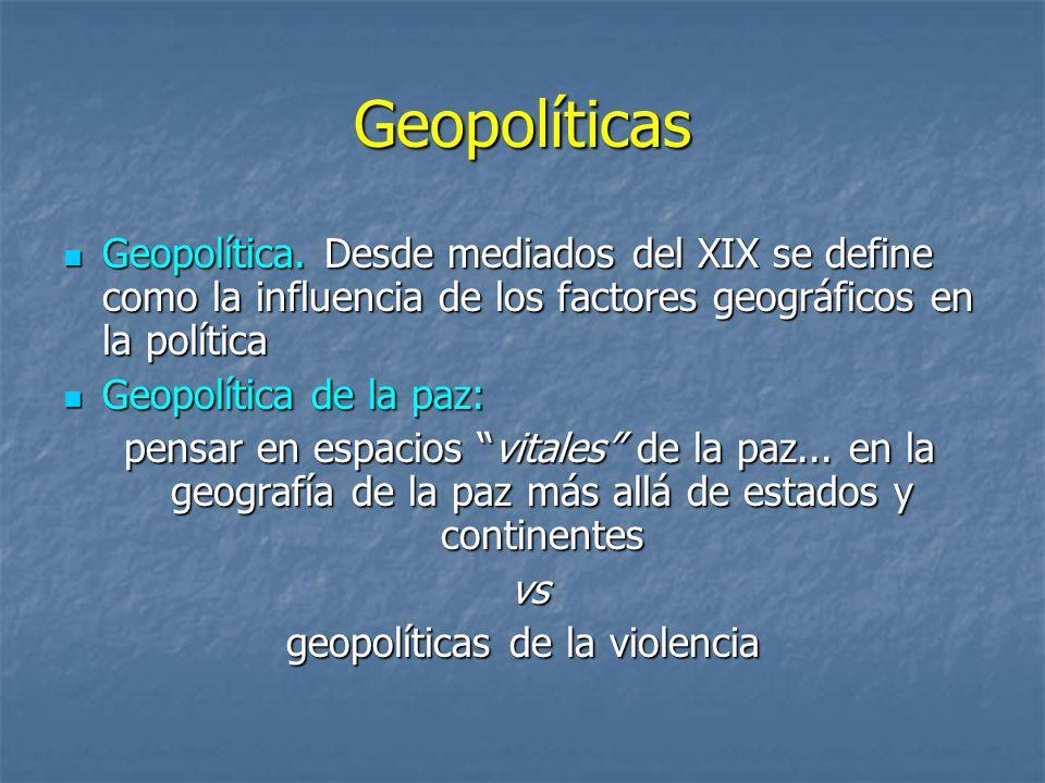 geopolíticas de la violencia