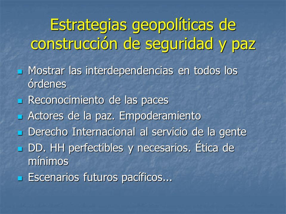 Estrategias geopolíticas de construcción de seguridad y paz