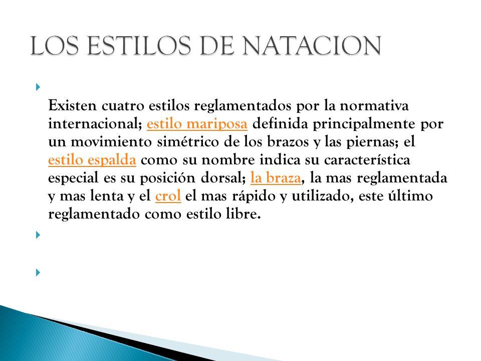LOS ESTILOS DE NATACION