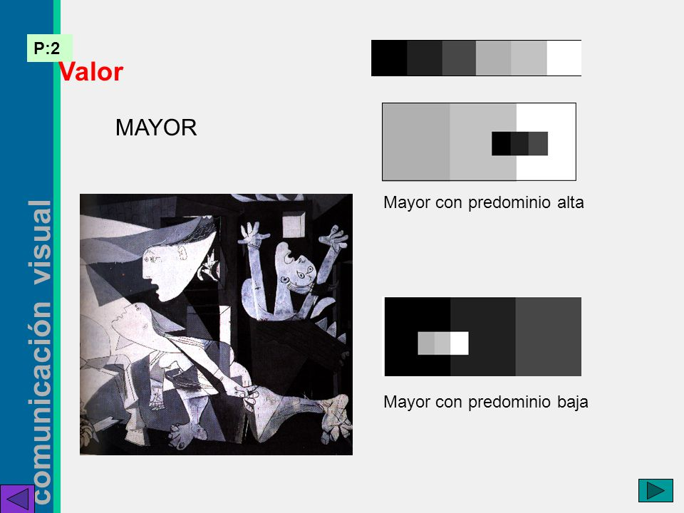 Valor MAYOR Mayor con predominio alta Mayor con predominio baja