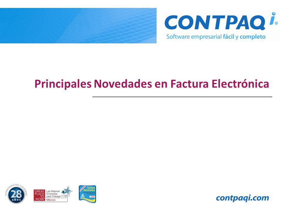 Principales Novedades en Factura Electrónica