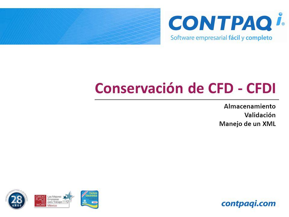 Conservación de CFD - CFDI