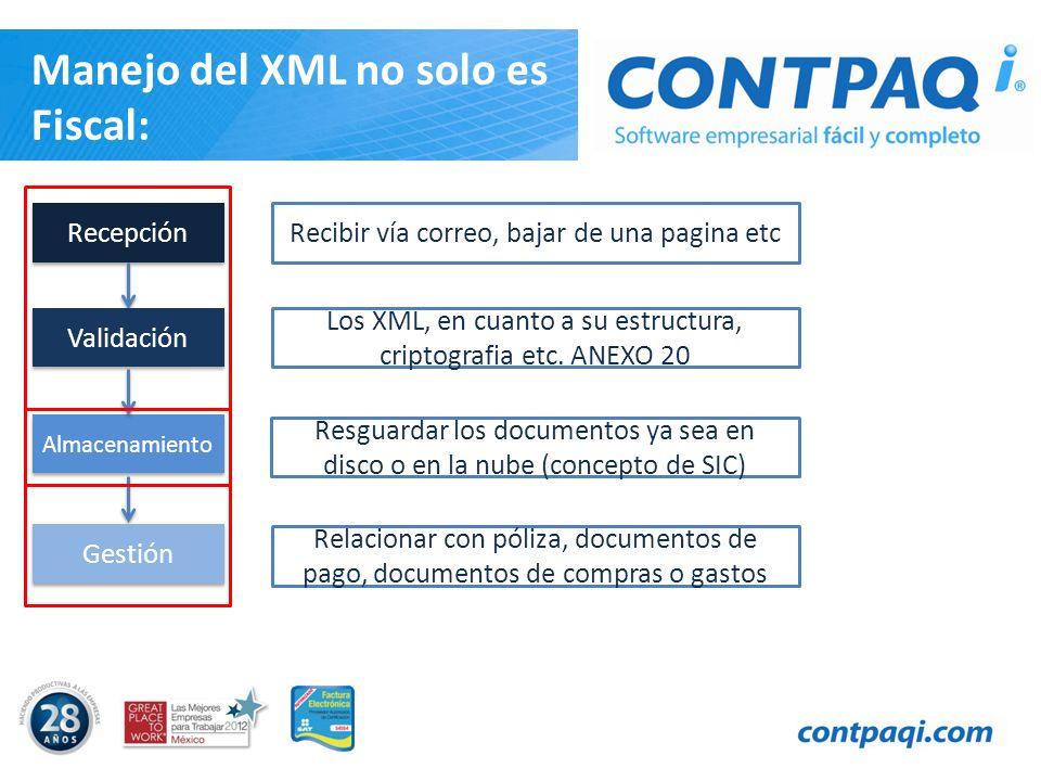 Manejo del XML no solo es Fiscal: