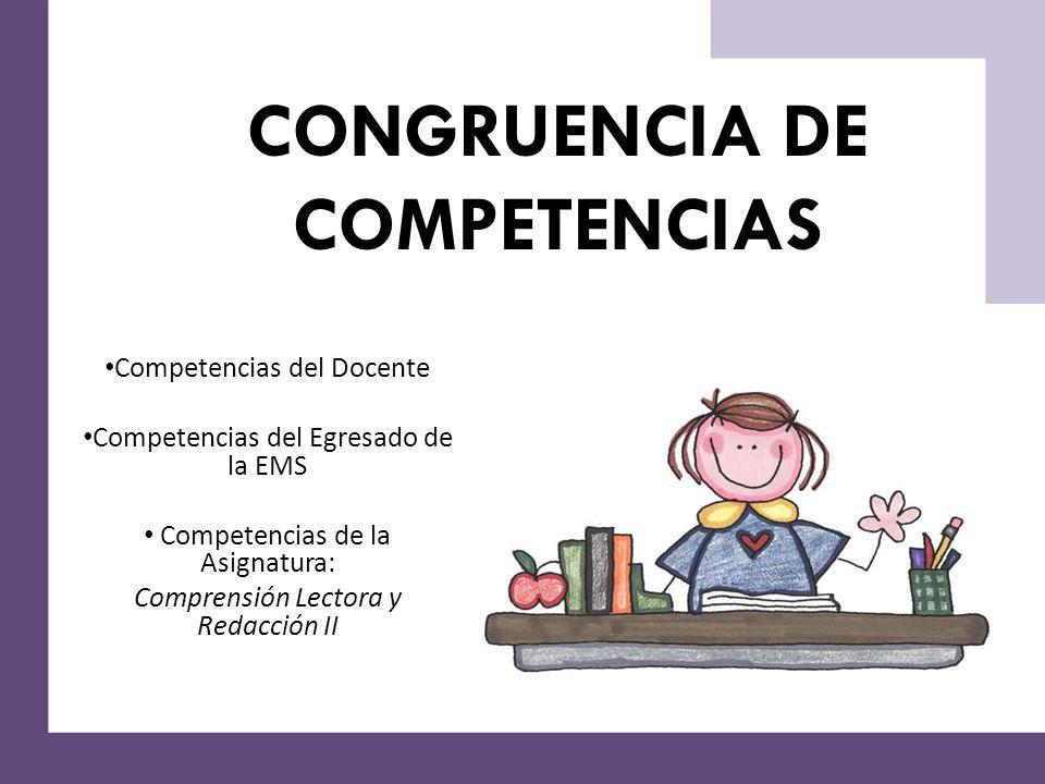 CONGRUENCIA DE COMPETENCIAS