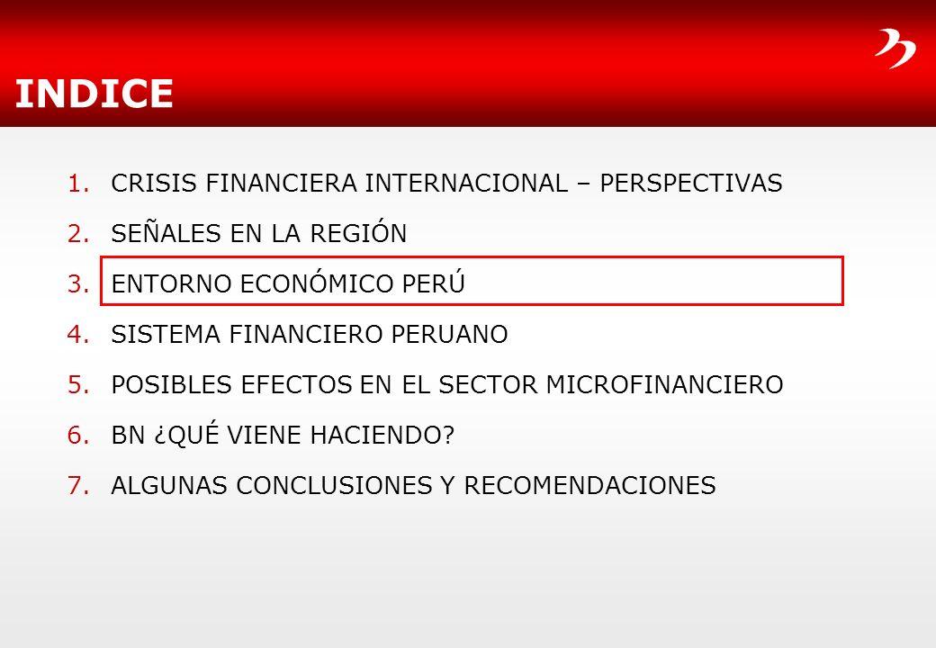 INDICE CRISIS FINANCIERA INTERNACIONAL – PERSPECTIVAS