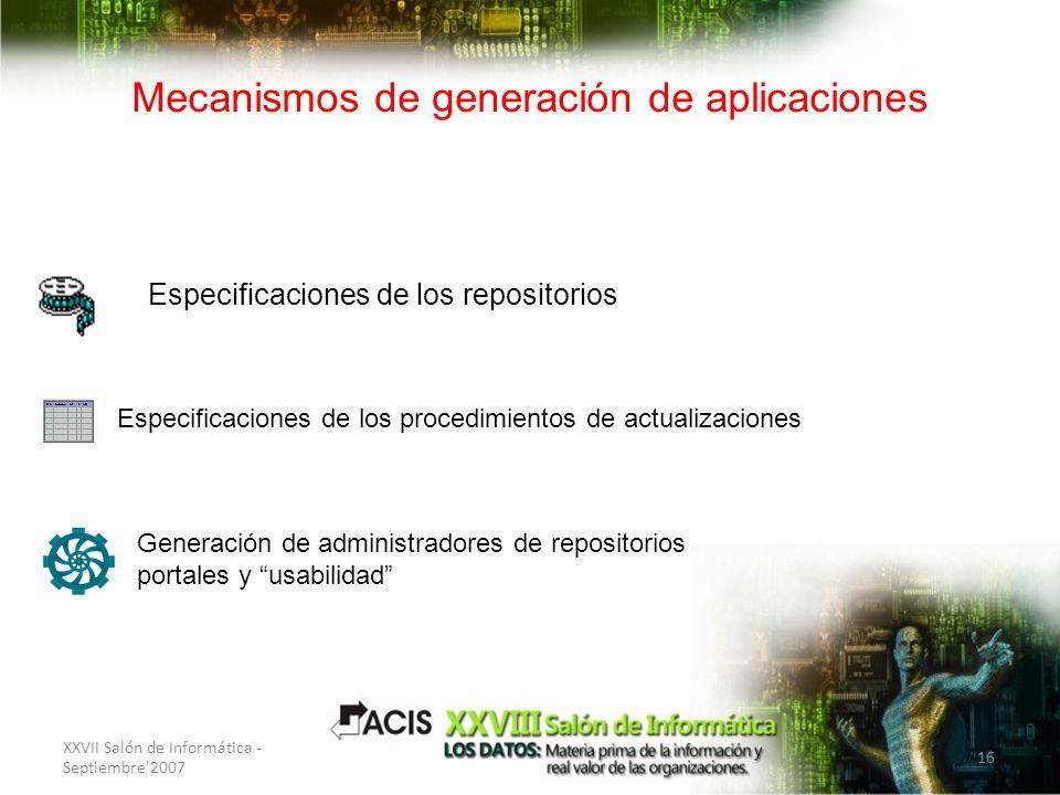 Mecanismos de generación de aplicaciones