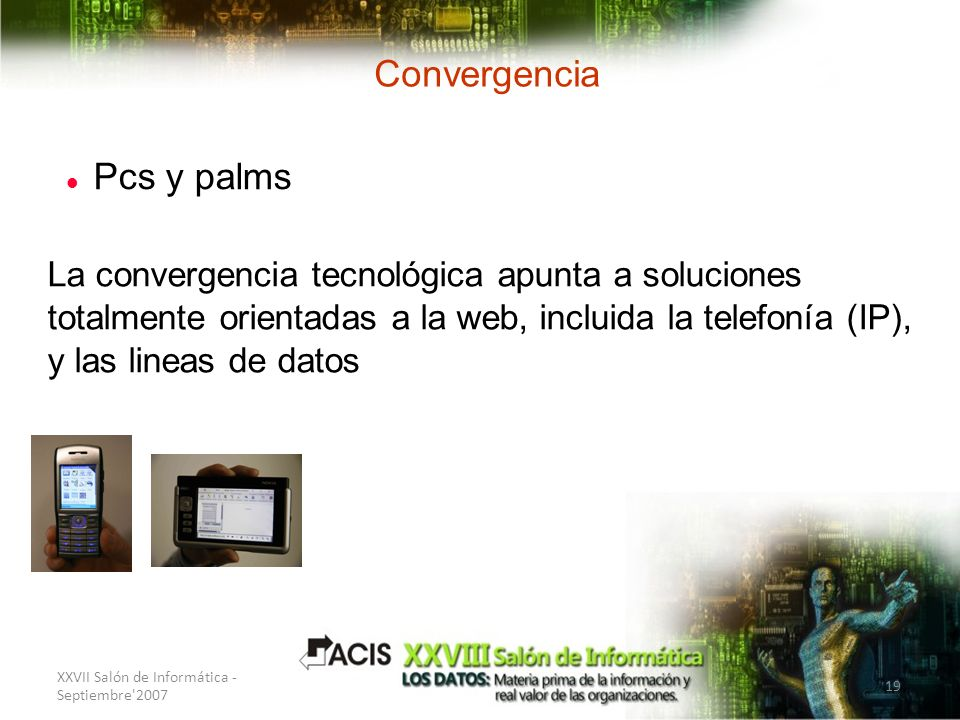 Convergencia Pcs y palms