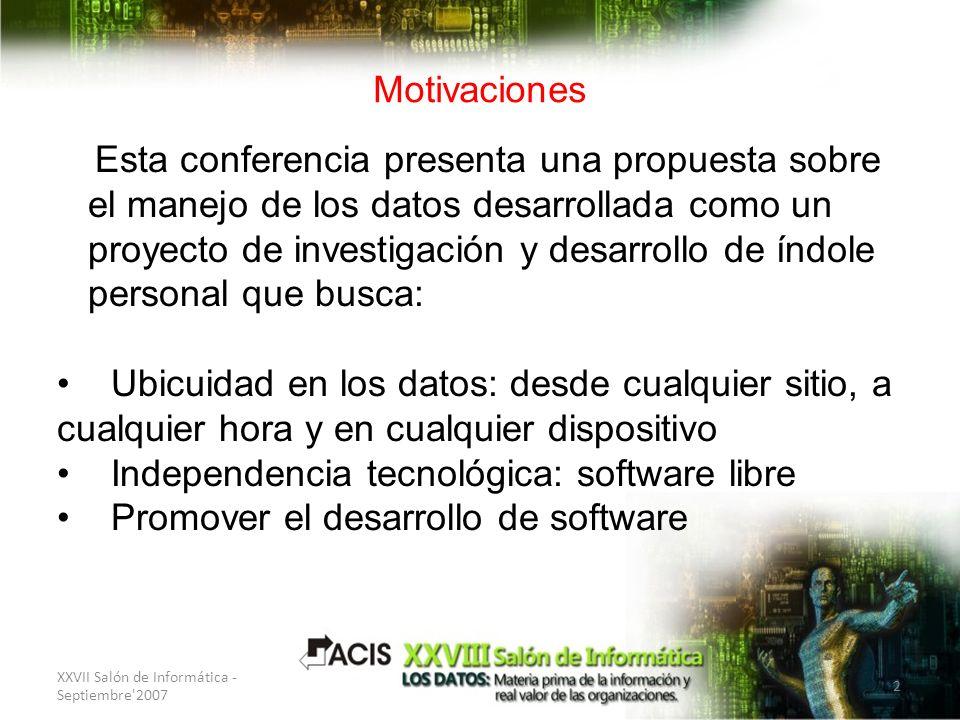 Esta conferencia presenta una propuesta sobre