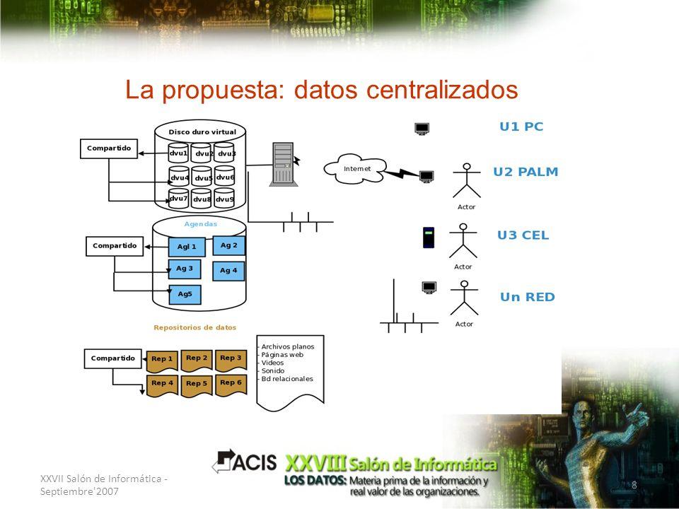 La propuesta: datos centralizados