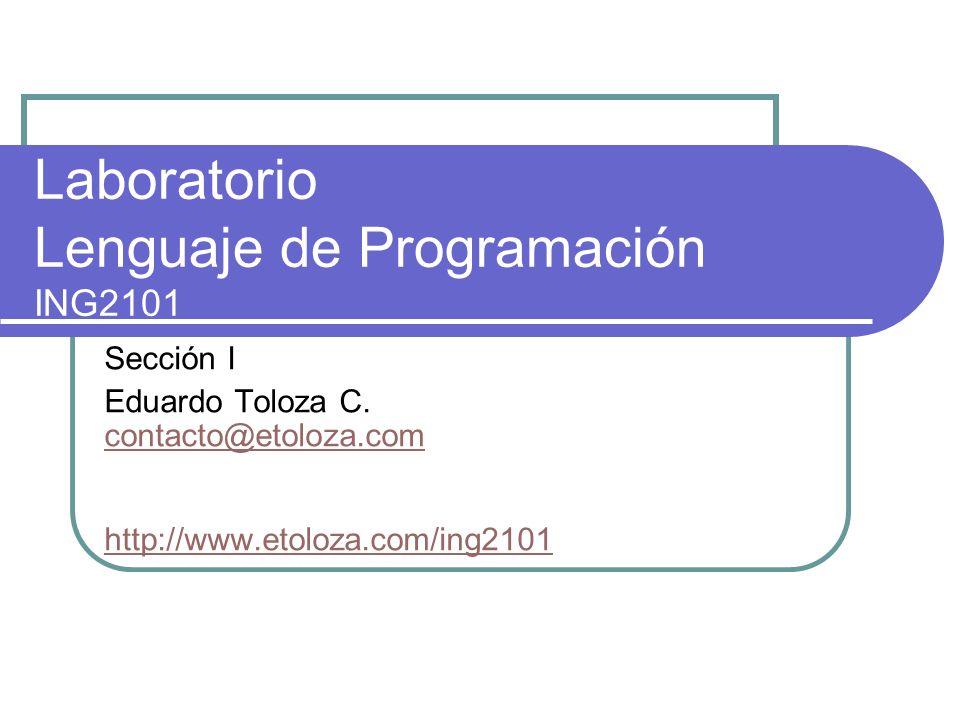 Laboratorio Lenguaje de Programación ING2101