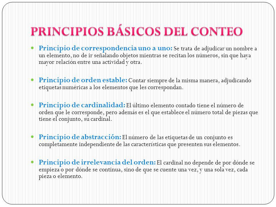 PRINCIPIOS BÁSICOS DEL CONTEO