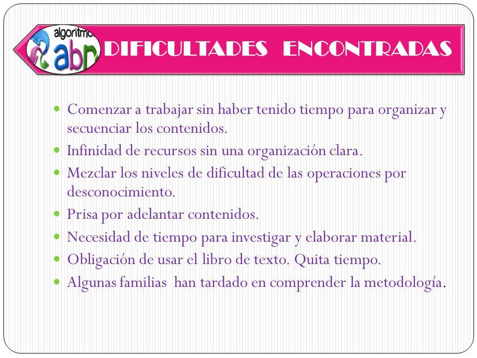 DIFICULTADES ENCONTRADAS