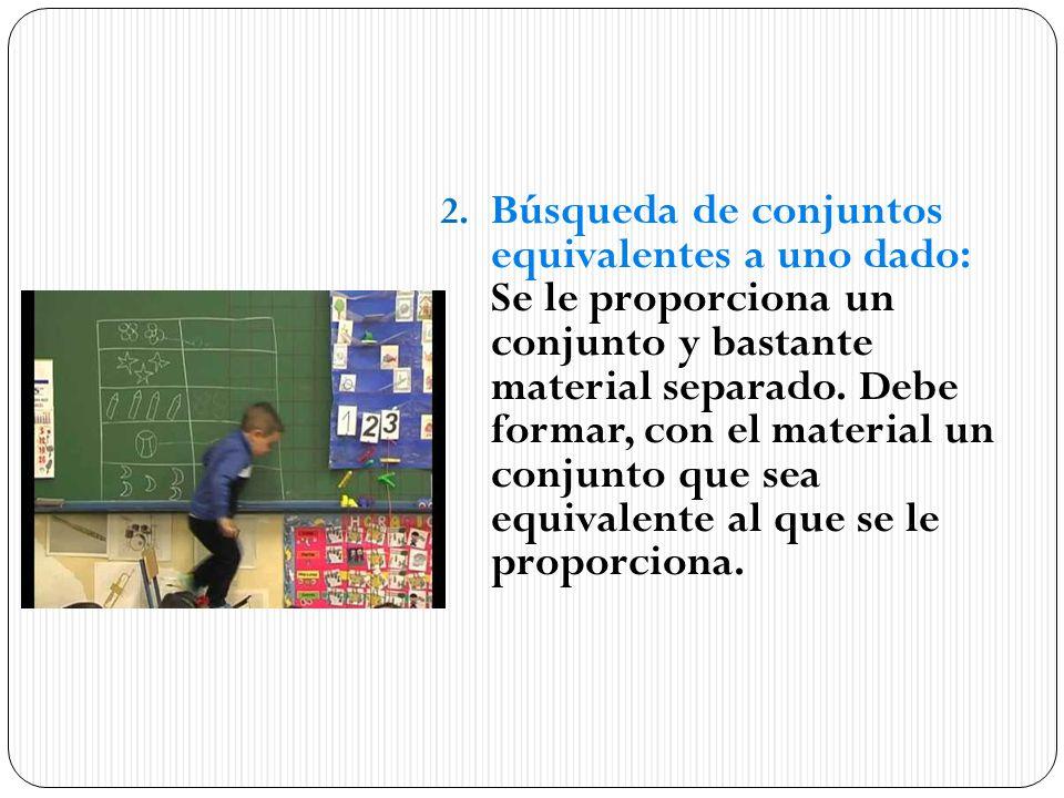 Búsqueda de conjuntos equivalentes a uno dado: Se le proporciona un conjunto y bastante material separado.