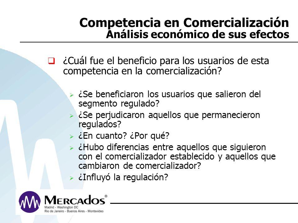 Competencia en Comercialización Análisis económico de sus efectos