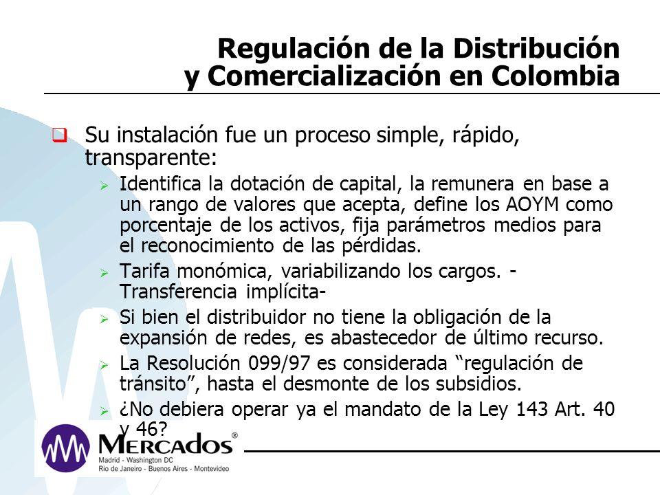 Regulación de la Distribución y Comercialización en Colombia