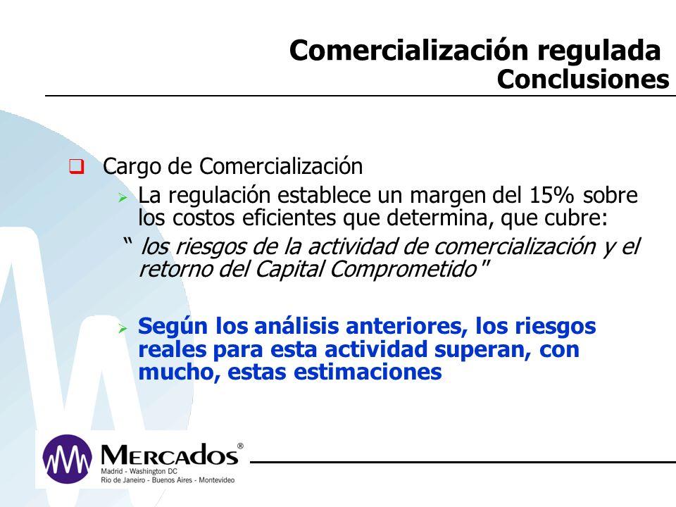 Comercialización regulada Conclusiones