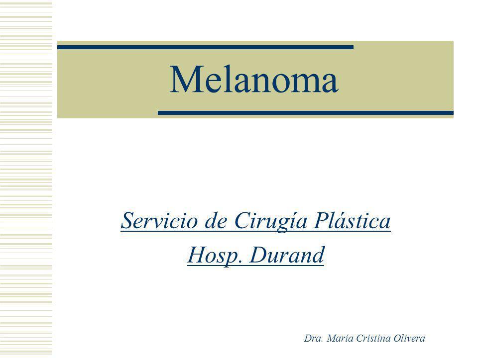 Servicio de Cirugía Plástica Hosp. Durand Dra. María Cristina Olivera