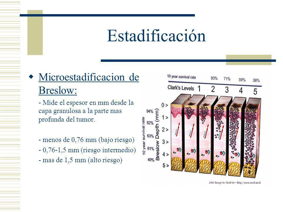 Estadificación Microestadificacion de Breslow: