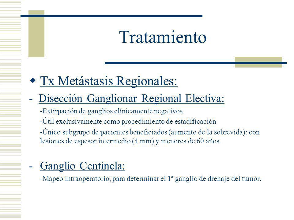 Tratamiento Tx Metástasis Regionales: