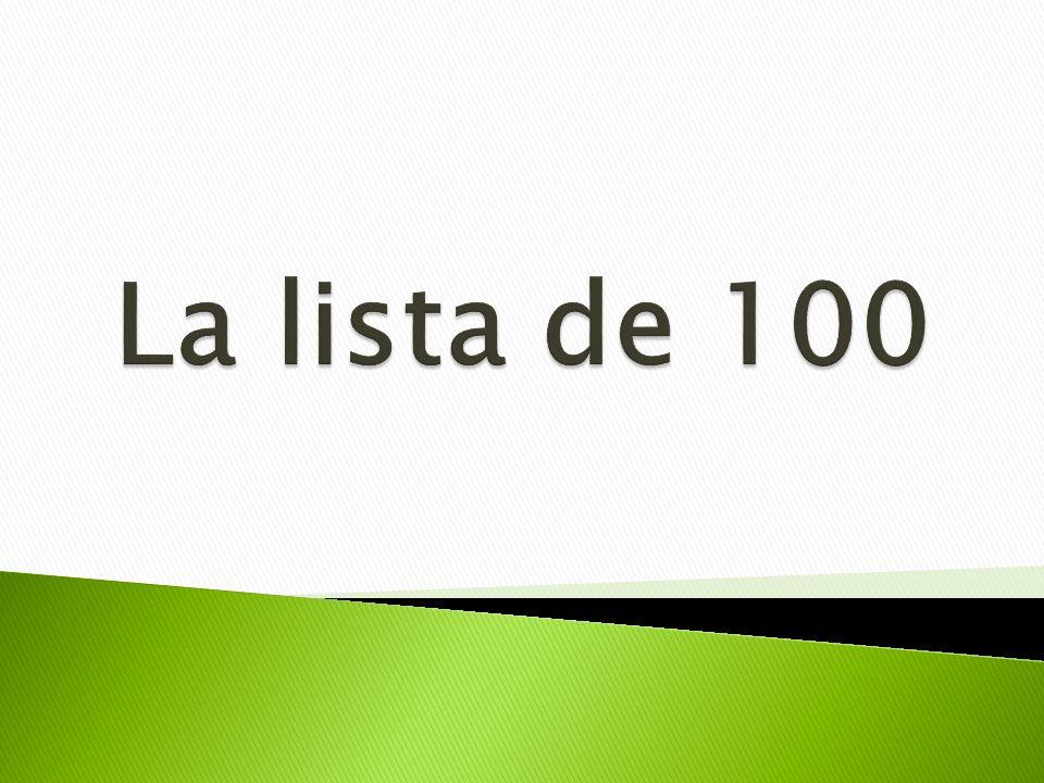 La lista de 100