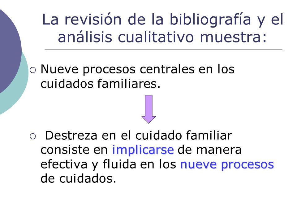 La revisión de la bibliografía y el análisis cualitativo muestra: