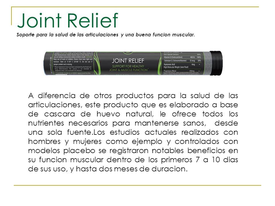 Joint Relief Soporte para la salud de las articulaciones y una buena funcion muscular.