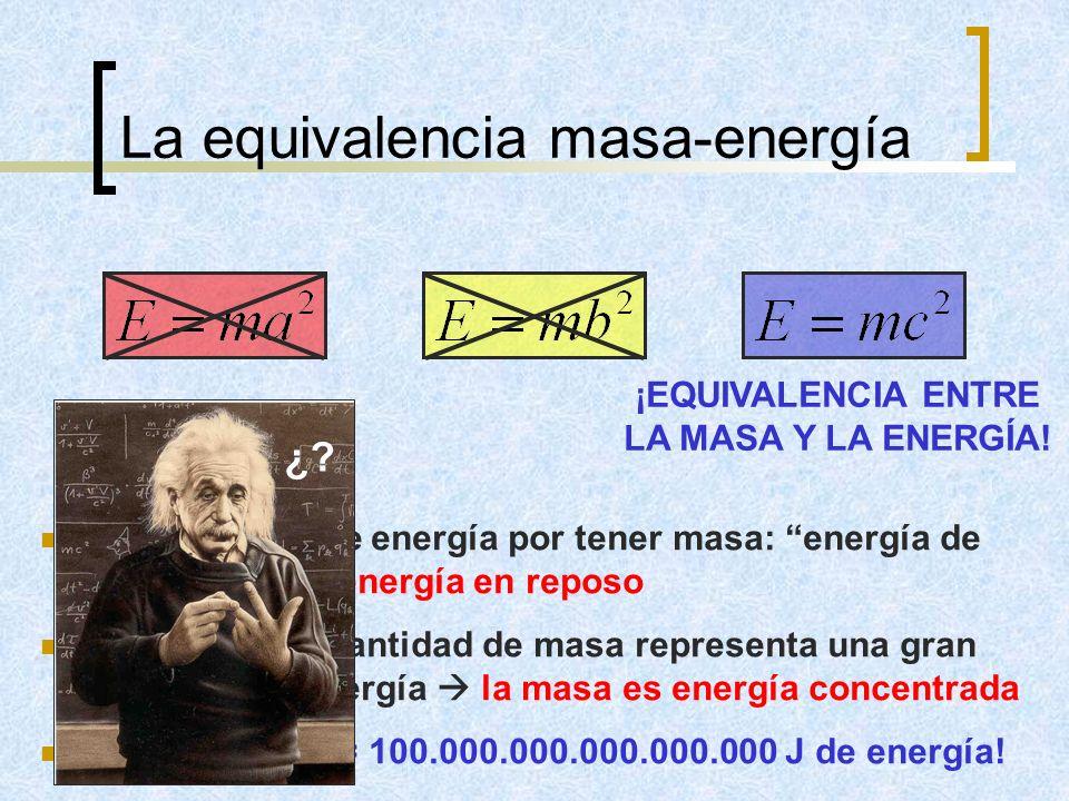 La equivalencia masa-energía