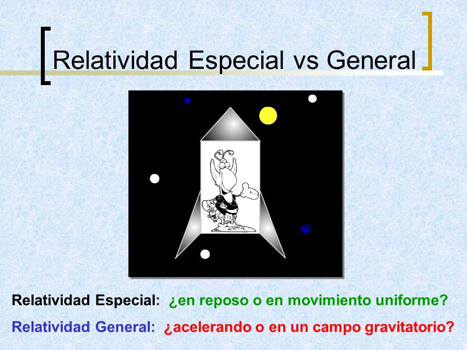 Relatividad Especial vs General