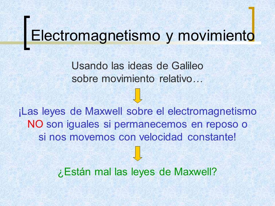 Electromagnetismo y movimiento
