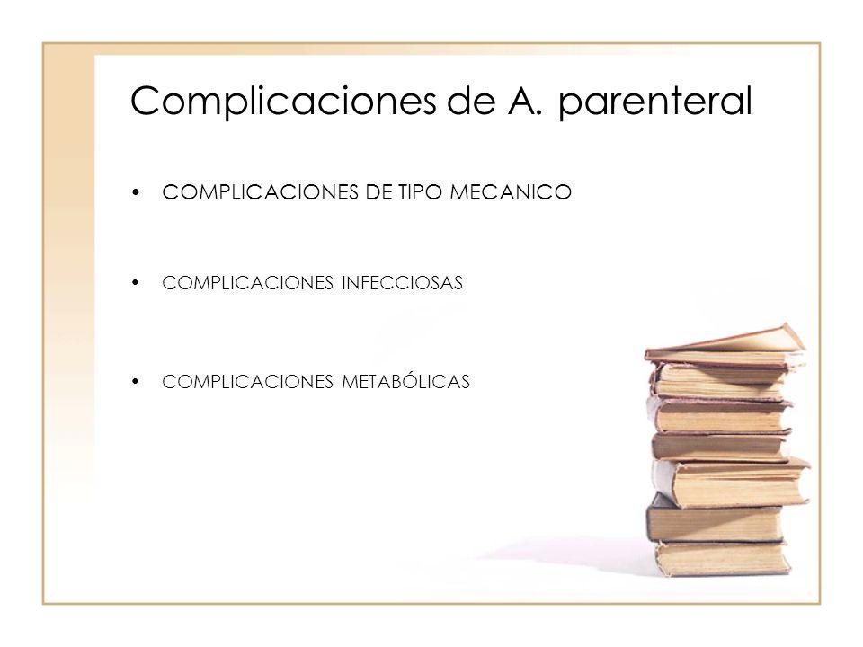 Complicaciones de A. parenteral
