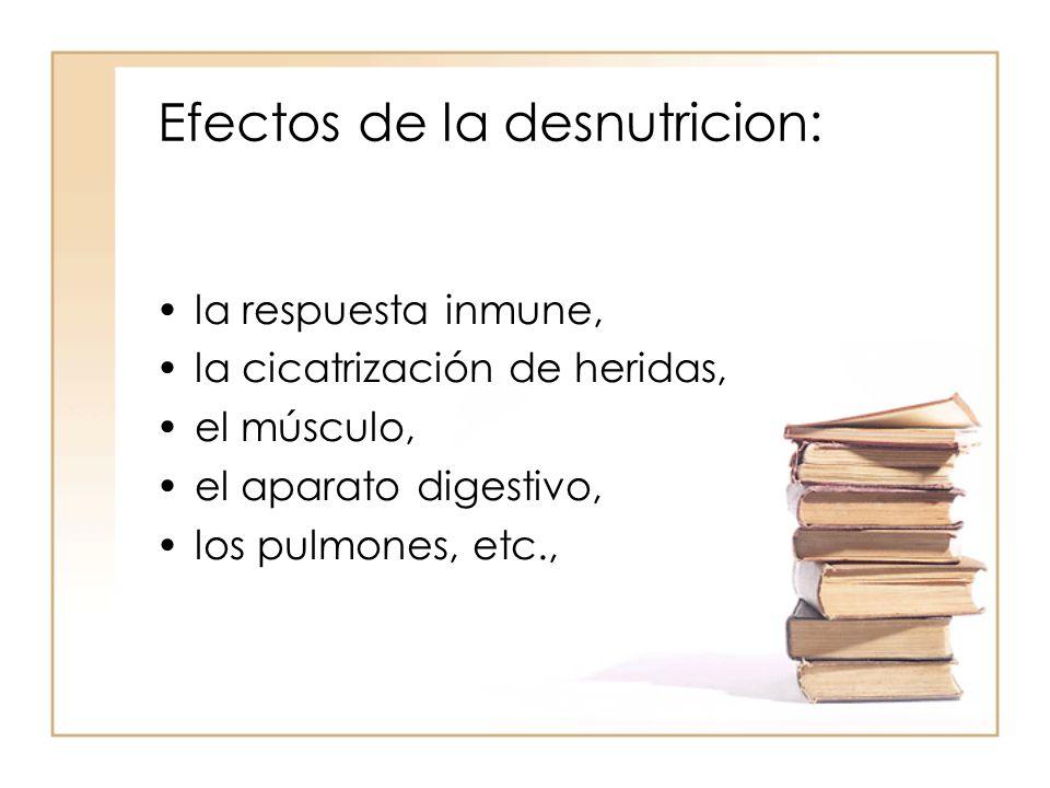 Efectos de la desnutricion: