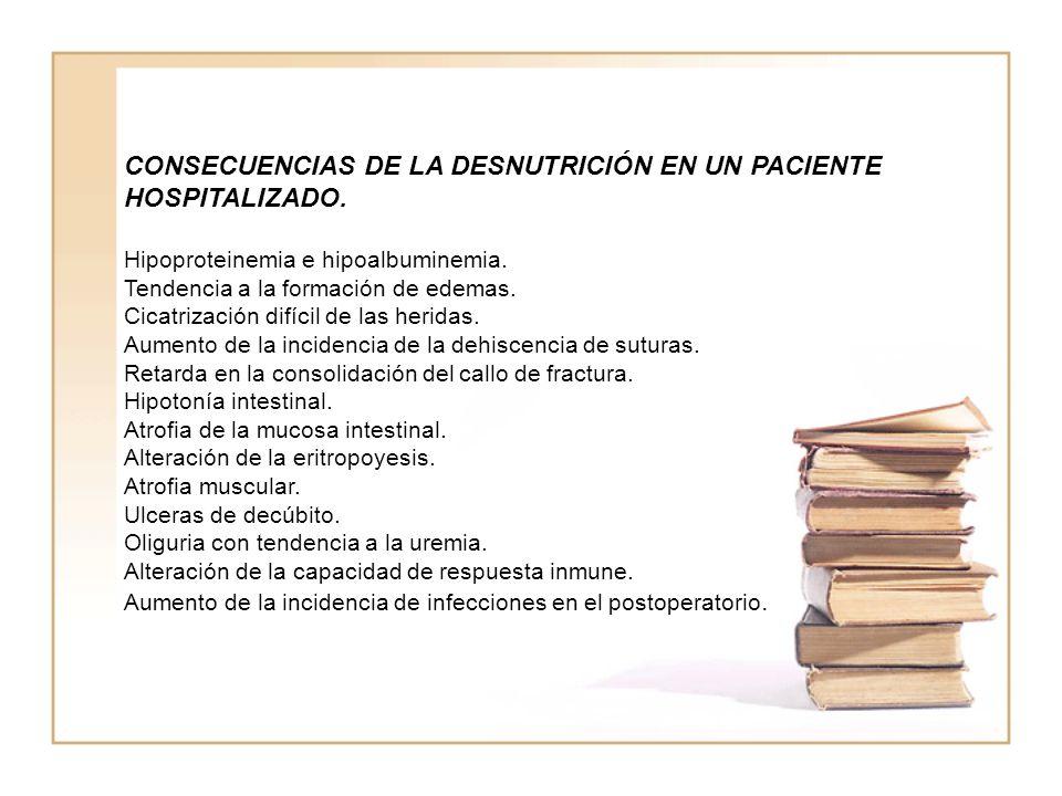 CONSECUENCIAS DE LA DESNUTRICIÓN EN UN PACIENTE HOSPITALIZADO.