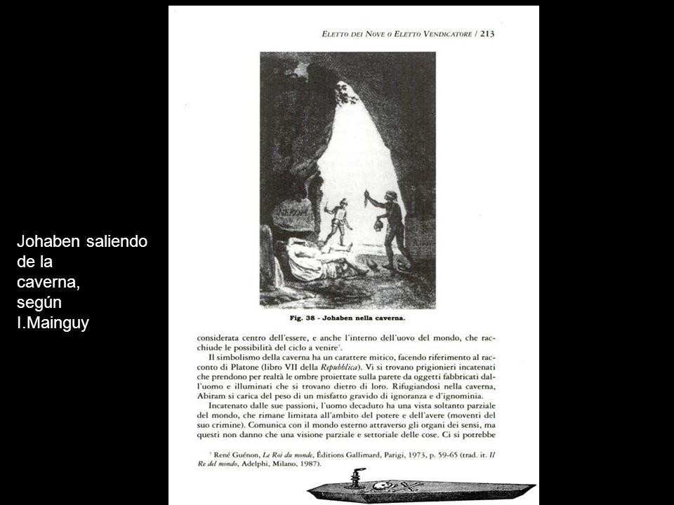Johaben saliendo de la caverna, según I.Mainguy