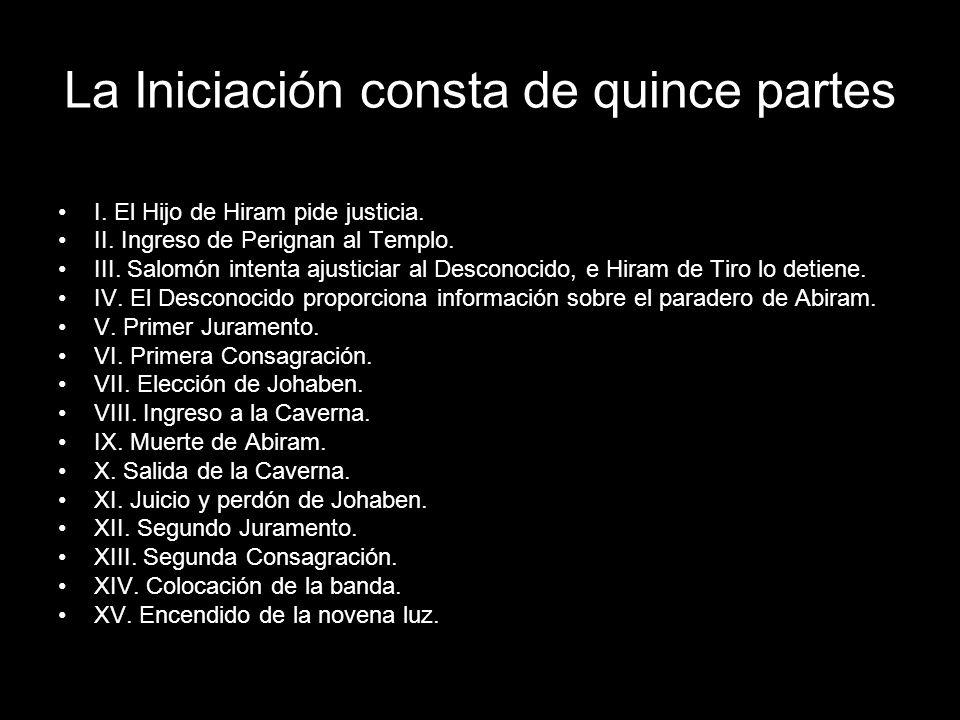 La Iniciación consta de quince partes