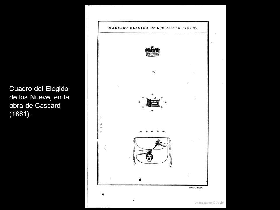 Cuadro del Elegido de los Nueve, en la obra de Cassard (1861).