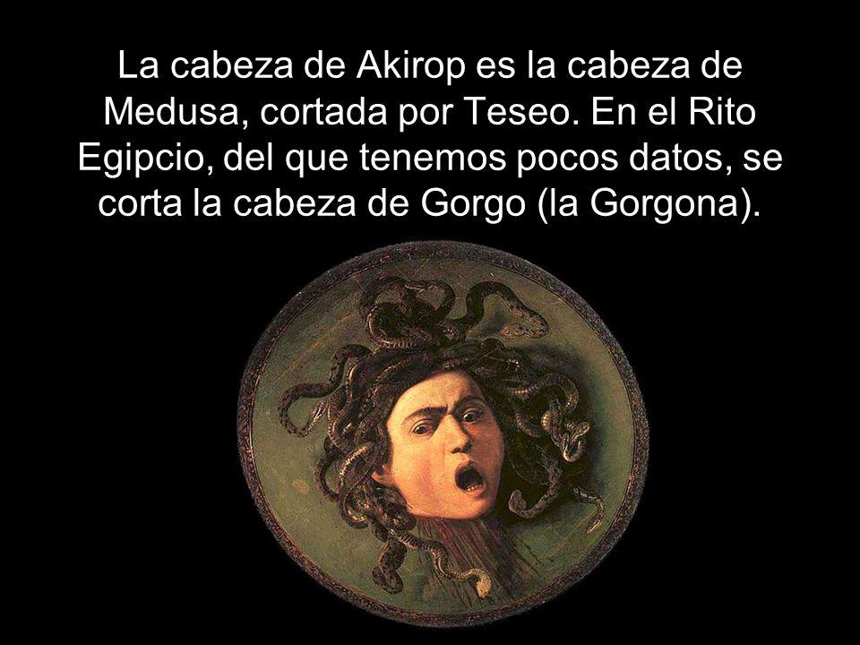 La cabeza de Akirop es la cabeza de Medusa, cortada por Teseo