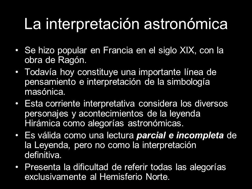 La interpretación astronómica