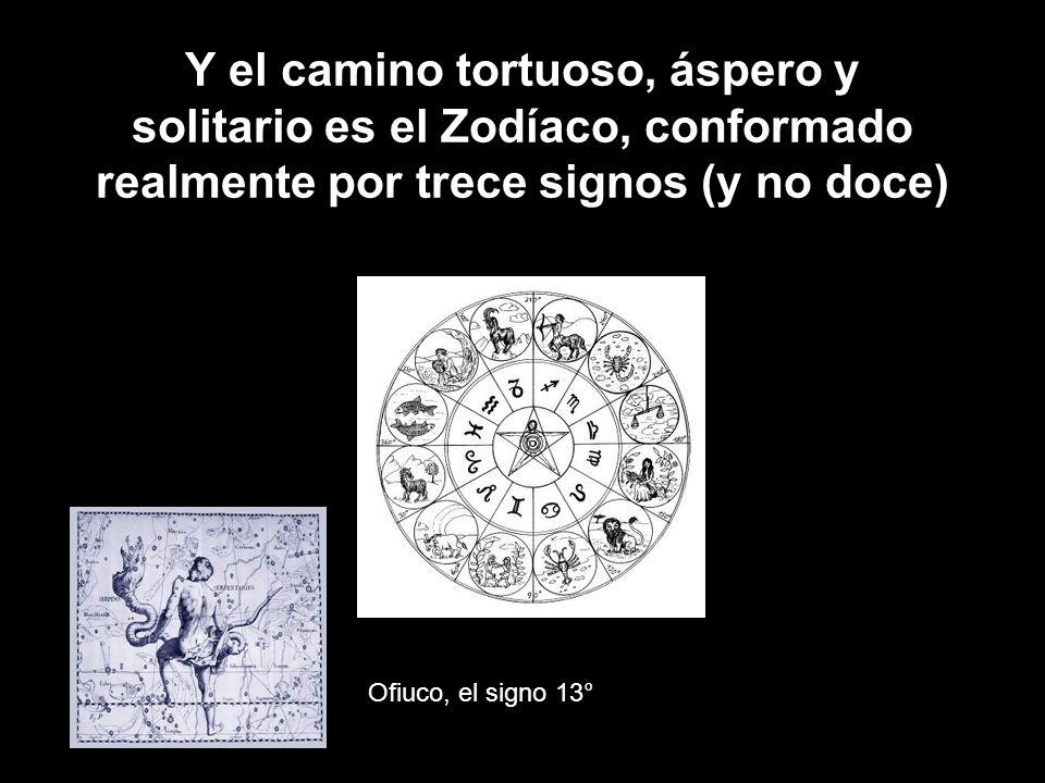 Y el camino tortuoso, áspero y solitario es el Zodíaco, conformado realmente por trece signos (y no doce)